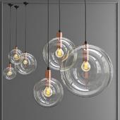 Подвесной светильник ClassiCon Selene Сopper designed by Sandra Lindner in 2006