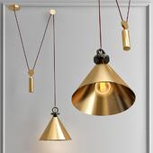 Подвесной светильник Shape up Pendant Cone Brass designed by John Hogan