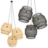 Ikea Sinnerlig Bamboo Pendant - 3 light