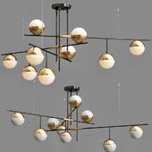 Люстра Balls white & brass 9