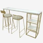 design logistic консоль и стулья