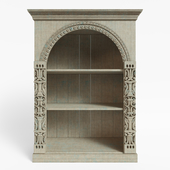 Carved shelving