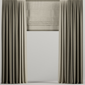 Brown Roman Curtains.