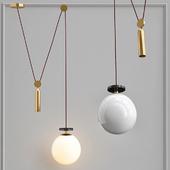 Подвесной светильник Shape up Pendant Globe White designed by John Hogan