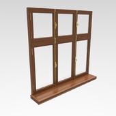 окно деревянное с подоконником классическое