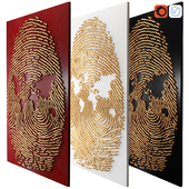 Decor fingerprint mural