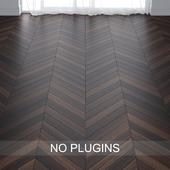Brown Teak Wood Parquet Floor vol.005 in 2 types