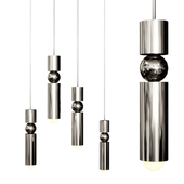 FULCRUM LIGHT from Lee Broom Silver