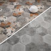 CIR Miami Esagona Florida Grey and Dust Grey Tile Set