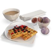 Breakfast Waffles and Figs