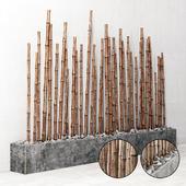 Бамбук на основании из речного камня / Bambooo decor fundament river stone