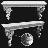 Sculpture console