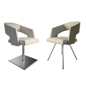 Jolly leather beige armchairs