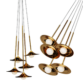 Pendant lamp Bullarum SS-5 Disk Gold