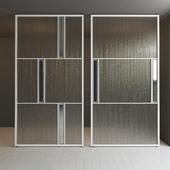 Glass partition door 33