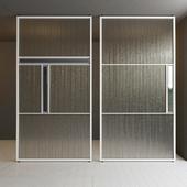 Glass partition door 34