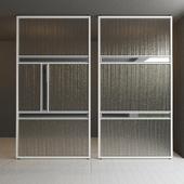 Glass partition door 35