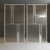 Glass partition door 36