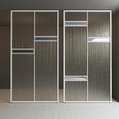 Glass partition door 38