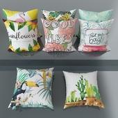 Set of decorative pillows No. 4