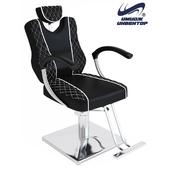 """OM Hairdressing chair """"Gloria BLEK"""" hydraulic"""