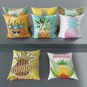 Set of throw pillows No. 5 Pineapple