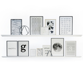 Black and white wall frames