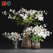 Gardenia/ jasmine bouquet vases