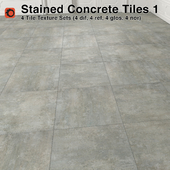 Stained Concrete Tiles - 1