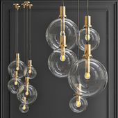 Pendant lamp Glass Globe Gold
