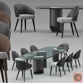 Minotti table and chairs  2019 COLLECTION