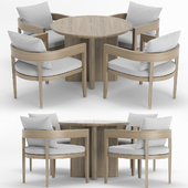 RH Outdoor Baimain round  table-chair