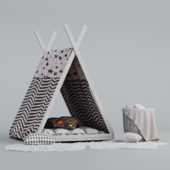 Children's Wigwam and Decor Set
