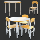 Table and Chairs Height Adjustable