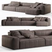 NeoWall Leather Corner Sofa by Living Divani
