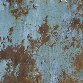 Aged weathered blue paint