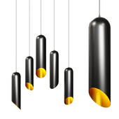 Modern Cylindrical Pendant Light - Minimalistic Lighting Fixture Black