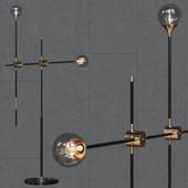 Торшер loft-concept Baton FLOR LAMP black/gold 2