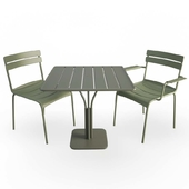Luxembourg Metallic Table and Chairs