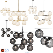 West Elm Sphere and Stem collection 9 light Chandelier Chrome, Gold, Bronze