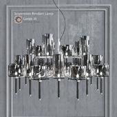 Chandelier AXO Light Spillray SP lamps 30 smoke glass