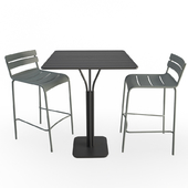 Luxembourg Metallic Table and Stools