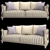 Country fabric sofa