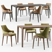 Potocco velis chair eiles table
