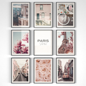 """Постеры в розовой гамме """"Париж"""""""