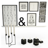 Black Decoration With Heima Candles