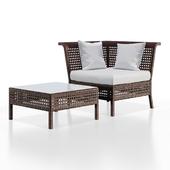 Стол и кресло Дача