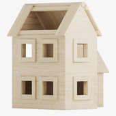 Wooden constructor. Big house
