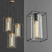 Pendant lamp Loft Industrial Ortogonal Pendant Clear Glass