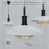 Pendant lamp Poul Henningsen PH4 Glass Pendant Lamp